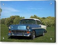 Acrylic Print featuring the photograph 1956 Chevrolet Belair by Tim McCullough