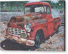 1956 Chevy Pickup Acrylic Print by Les Katt