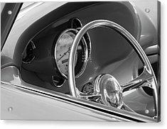 1956 Chrysler Hot Rod Steering Wheel Acrylic Print by Jill Reger