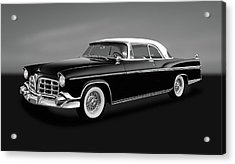 Acrylic Print featuring the photograph 1956 Chrysler Imperial Southampton   -   1956chrysimperialgry170226 by Frank J Benz