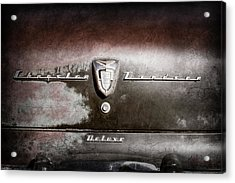 1956 Chrysler Windsor Emblem -393ac Acrylic Print by Jill Reger