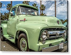 1956 Ford F-100 Pickup Acrylic Print by Steve Benefiel