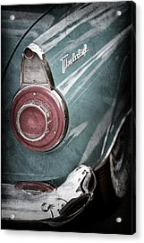 Acrylic Print featuring the photograph 1956 Ford Thunderbird Taillight Emblem -0382ac by Jill Reger