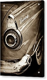 Acrylic Print featuring the photograph 1956 Ford Thunderbird Taillight Emblem -0382s by Jill Reger