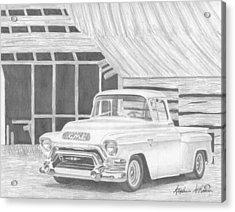 1956 Gmc Pickup Truck Art Print Acrylic Print by Stephen Rooks