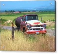 1956 Heavy Chevy Truck In Cache Valley Acrylic Print
