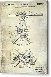 1956 Helicopter Patent Acrylic Print