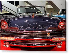 1956 Lincoln Premiere Convertible . Blue . 7d9245 Acrylic Print by Wingsdomain Art and Photography
