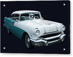 1956 Pontiac Star Chief Digital Oil Acrylic Print