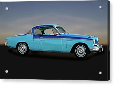 Acrylic Print featuring the photograph 1956 Studebaker Sky Hawk Coupe  -  1956studebakerskyhawk170517 by Frank J Benz
