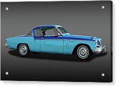 Acrylic Print featuring the photograph 1956 Studebaker Sky Hawk Coupe  -  1956studebakerskyhawkfa170517 by Frank J Benz