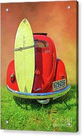 1957 Beetle Oval Acrylic Print
