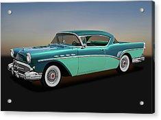 Acrylic Print featuring the photograph 1957 Buick Super Riviera 2 Door Hardtop  -  1957buicksuperriviera170431 by Frank J Benz