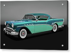 Acrylic Print featuring the photograph 1957 Buick Super Riviera 2 Door Hardtop  -  1957buicksuperrivieragry170431 by Frank J Benz