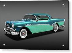 Acrylic Print featuring the photograph 1957 Buick Super Riviera 2 Door Hardtop  -  1957buicksuprivierafa170431 by Frank J Benz
