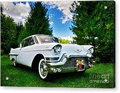 1957 Cadillac Acrylic Print by Mark Miller