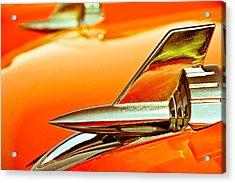 1957 Chev Bel Air Hood Fins Acrylic Print