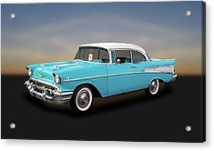 1957 Chevrolet Bel Air Sport Coupe   -   57chspcp260 Acrylic Print by Frank J Benz