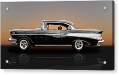 1957 Chevrolet Bel Air Sport Coupe - V1 Acrylic Print by Frank J Benz