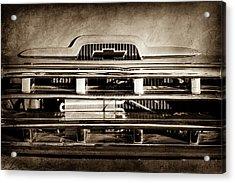 1957 Chevrolet Pickup Truck Grille Emblem -0324s Acrylic Print by Jill Reger