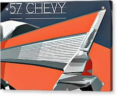 1957 Chevy Art Design By John Foster Dyess Acrylic Print