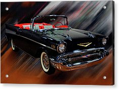 1957 Chevy Bel Air Convertible Digital Oil Acrylic Print