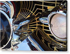 1957 Chevy Bel Air Grill Abstract 1 Acrylic Print