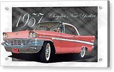 1957 Chrysler New Yorker Acrylic Print