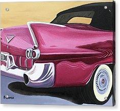 1957 Eldorado-red Acrylic Print by Dean Glorso