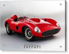 1957 Ferrari 335 S Spider Scaglietti. Acrylic Print