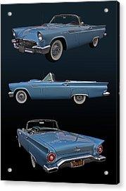 1957 Ford Thunderbird Acrylic Print by Bill Dutting