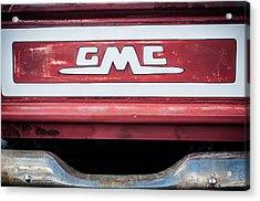 1957 Gmc Pickup Truck Tail Gate Emblem -0272c1 Acrylic Print by Jill Reger