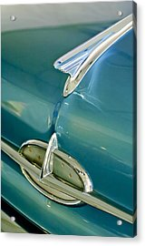 1957 Oldsmobile Hood Ornament 5 Acrylic Print by Jill Reger
