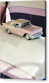 1957 Oldsmobile Super 88 Matchbox Car Acrylic Print by Jill Reger