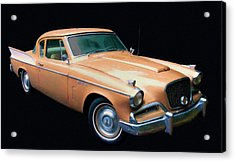 1957 Studebaker Golden Hawk Digital Oil Acrylic Print