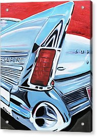 1958 Buick Super Acrylic Print by Dean Glorso
