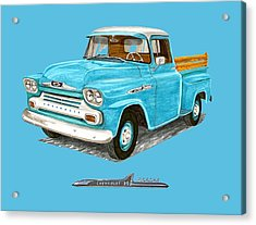Apache Pick Up Truck Acrylic Print by Jack Pumphrey