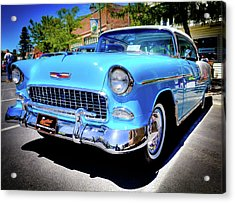 1955 Chevy Baby Blue Acrylic Print