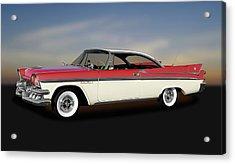 Acrylic Print featuring the photograph 1958 Dodge Custom Royal Lancer Super D-500  -  1958dgeroyalsuperd500170482 by Frank J Benz