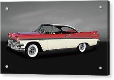 Acrylic Print featuring the photograph 1958 Dodge Custom Royal Lancer Super D-500  -  1958dodgesuperd500gry170482 by Frank J Benz