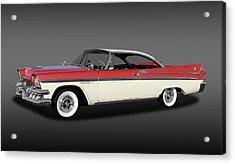 Acrylic Print featuring the photograph 1958 Dodge Custom Royal Lancer Super D-500  - 1958dgeroyalsupd500fa170482 by Frank J Benz