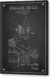 1958 Exercise Device Patent Spbb11_cg Acrylic Print
