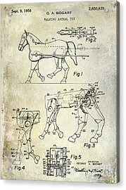 1958 Horse Toy Patent Acrylic Print by Jon Neidert