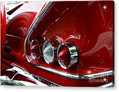 1958 Impala Tail Lights Acrylic Print by Paul Ward