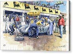 1958 Targa Florio Porsche 718 Rsk Behra Scarlatti 2 Place Acrylic Print by Yuriy Shevchuk