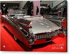 1959 Cadillac Convertible . Rear Angle Acrylic Print by Wingsdomain Art and Photography