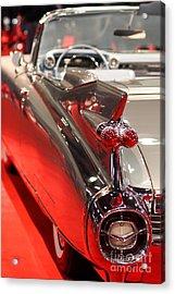 1959 Cadillac Convertible . Wing View Acrylic Print