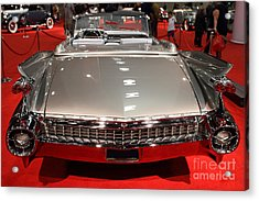 1959 Cadillac Eldorado Convertible . Rear View Acrylic Print by Wingsdomain Art and Photography