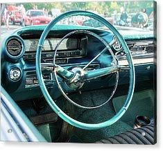 1959 Cadillac Sedan Deville Series 62 Dashboard Acrylic Print by Jon Woodhams