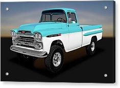 Acrylic Print featuring the photograph 1959 Chevrolet Apache 36 Fleetside  -  1959chevroletapache170564 by Frank J Benz